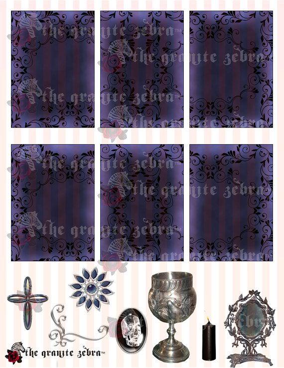 Elegance In Blue Goth ACEO Background Stock by TheGraniteZebra