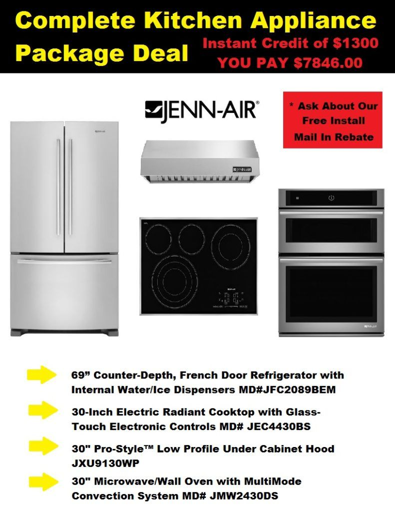 Complete Appliance Package Jenn Air Deal Discount