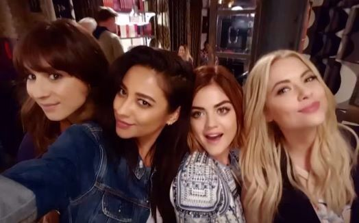 Spencer, Emily, Aria and Hanna from Pretty Little Liars Seson 6 - Five years forwards - Pretty Little Liars