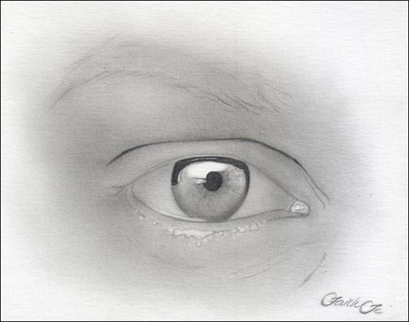 Free pencil tutorial on how to draw the female eye in graphite
