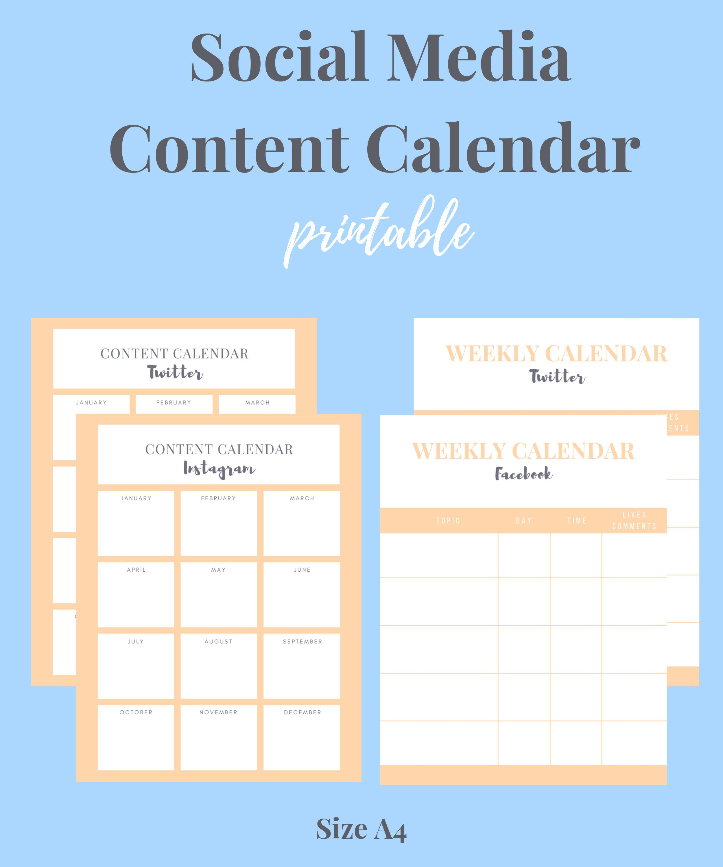 Social Post Planner Content Planner Social Media Strategy