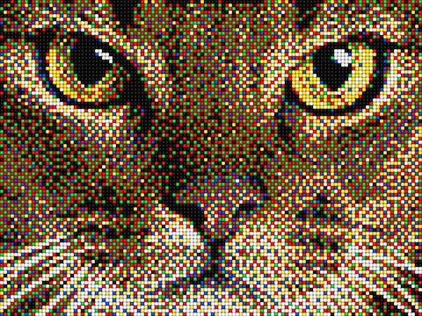 Gatto Pixel Art #pixelart #cat #gatto #chiodini #quercetti #pegs