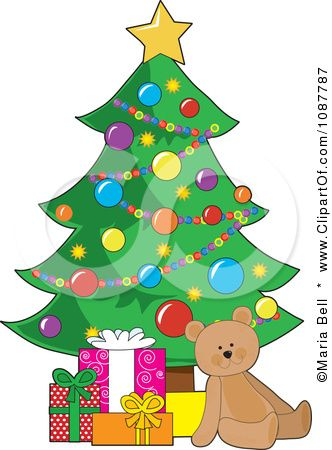 Free clip art christmas tree with gifts