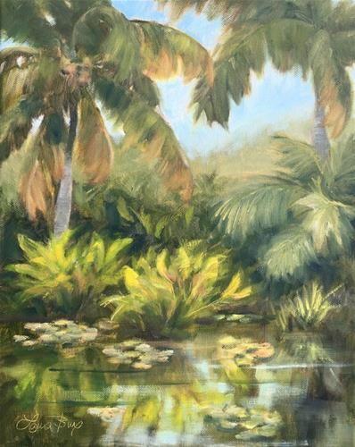 "Daily Paintworks - ""Naples Botanical Garden 506"" - Original Fine Art for Sale - © Laura  Buxo"
