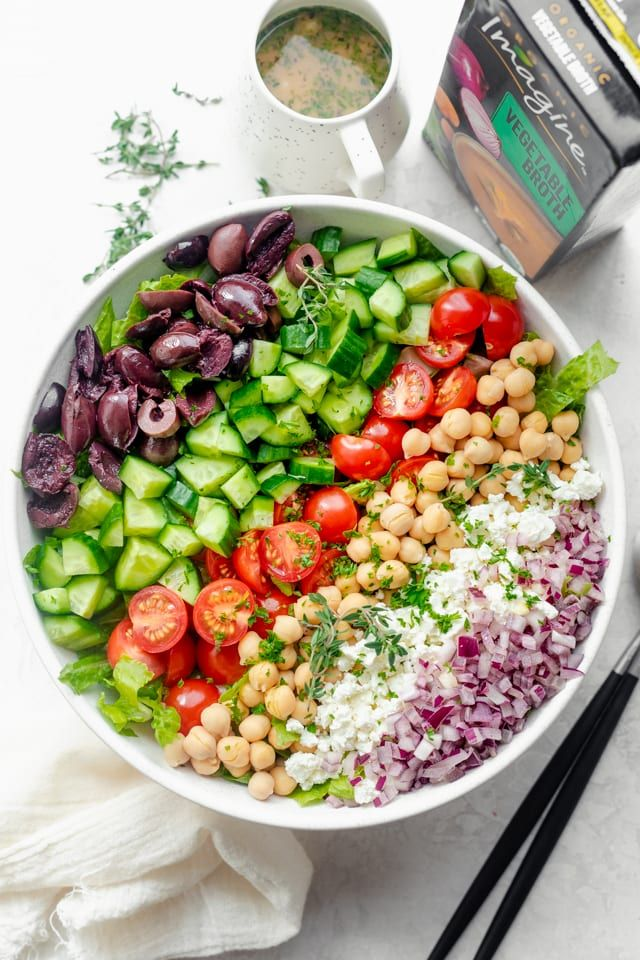 Mediterranean Chopped Salad #mediterraneanrecipes