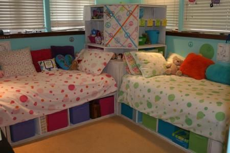 Corner Storage Bed Great Idea For Kids That Have To Share A Room