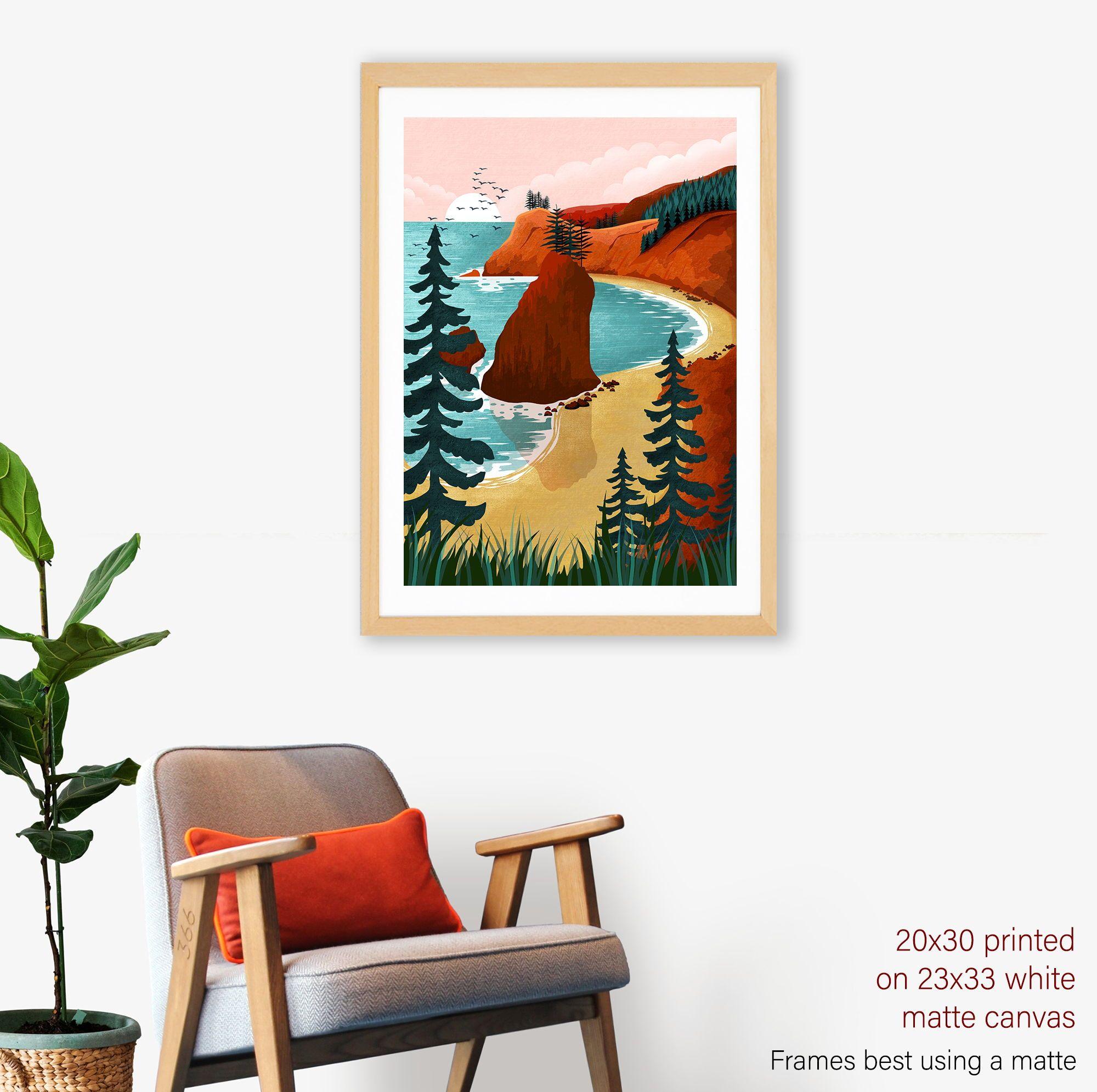 """Dolphins Canvas Matte Print 23/"""" x 33/"""""""