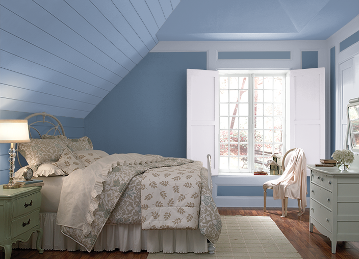 This Is The Project I Created On Behr Com I Used These Colours Jet Set S530 4 Layers Of Ocean S520 6 Mystical Room Colors Bedroom Colors Room Paint