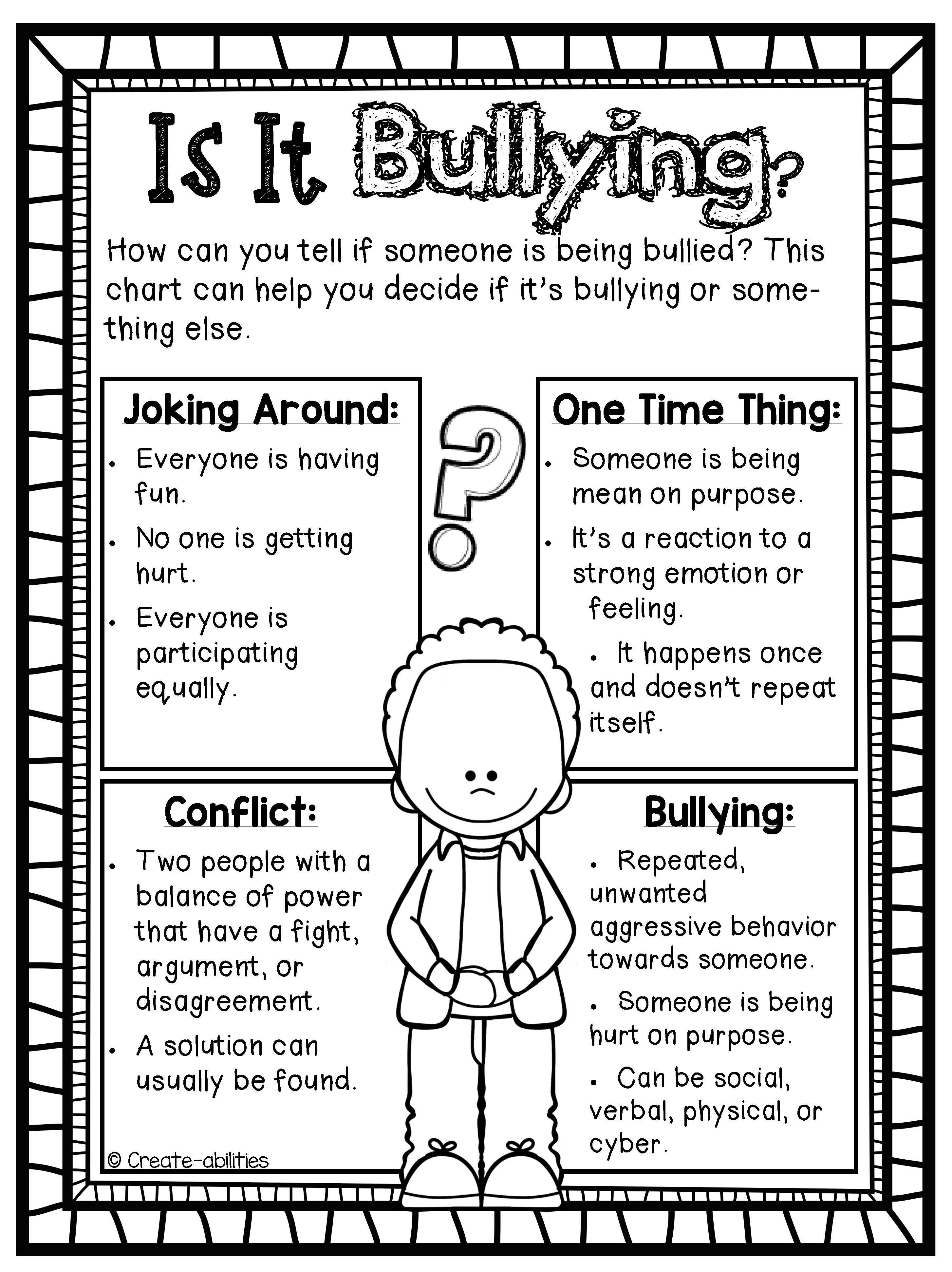 bullying poster and activity set. SO needed this year! I