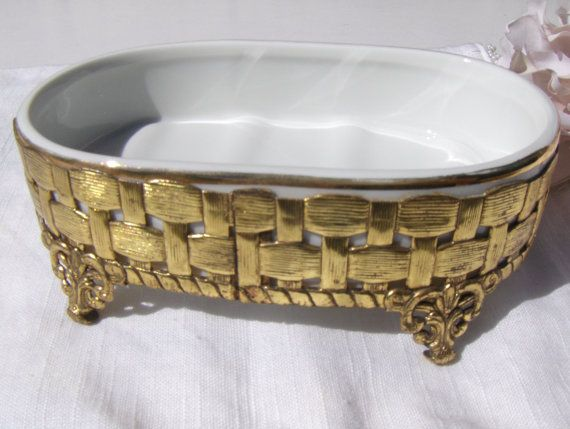Reserved for rachel vintage ceramic soap dish bath tub - Ceramic soap dishes for bathrooms ...
