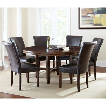 "caden 7-piece dining set with 62"" table. costco. $999 