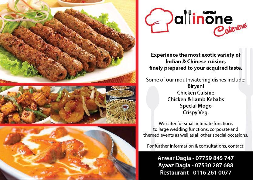 All In One Caterers Are Based In Leicester They Provide Halal Catering For Weddings Other Occasions Lamb Kebabs Biryani Chicken Catering