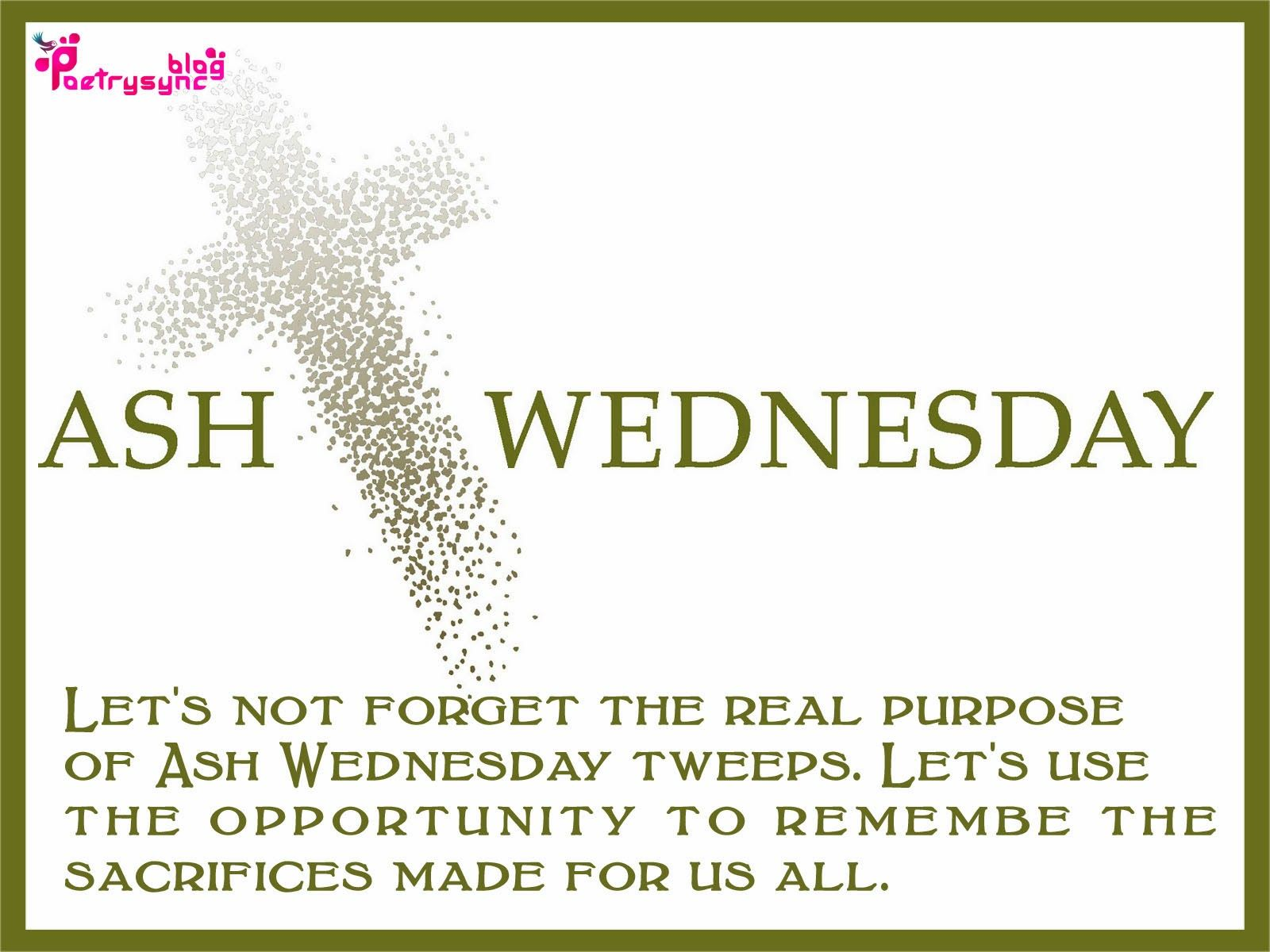 Ash wednesday wishes and greetings image with quote saying ash ash wednesday wishes and greetings image with quote saying kristyandbryce Images