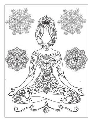 This Is A Free Preview Of The Book Yoga And Meditation Coloring For Adults With Poses Mandalas An Original