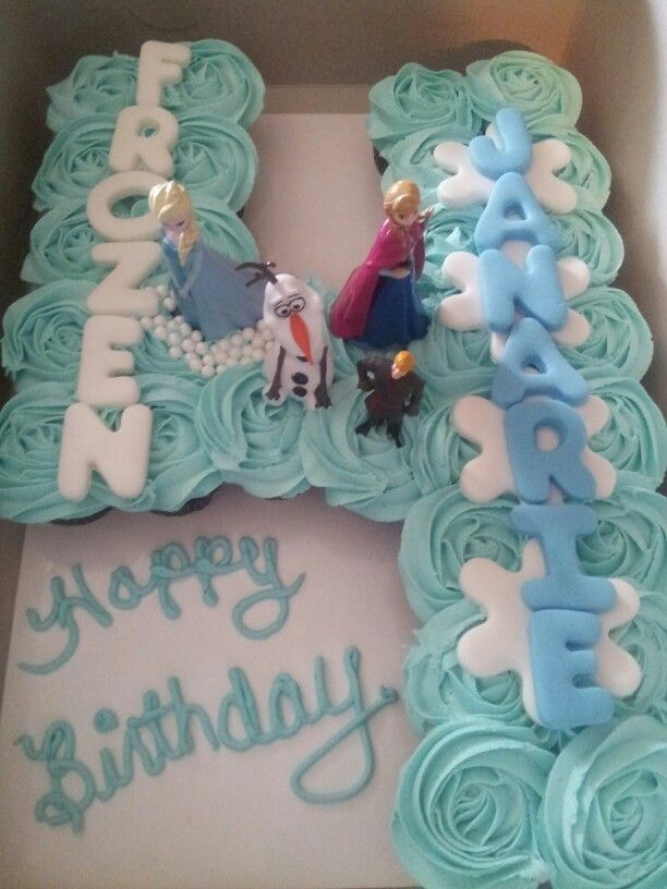Incredible Frozen Cuocake Cake With Images Frozen Themed Birthday Cake Funny Birthday Cards Online Sheoxdamsfinfo