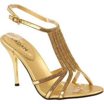 For the bridesmaids. Strappy Gold Wedding Shoes | pink and gold ...
