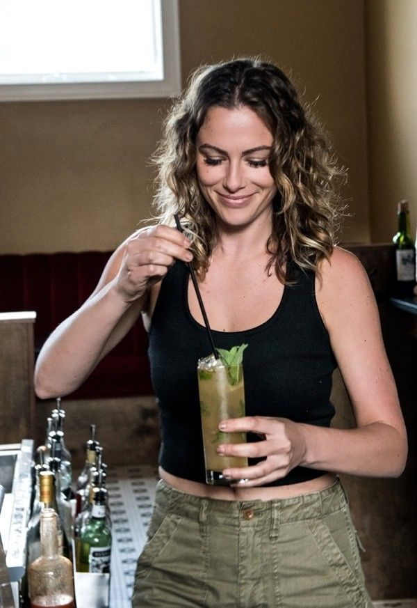 Bartender Kate Workman kicks up the classic Cuban cocktail with Ancho Chile Liqueur and a pinch of cayenne.