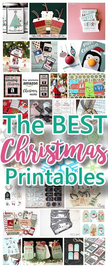 The BEST FREE Christmas Printables – Gift Tags, Holiday Greeting ...