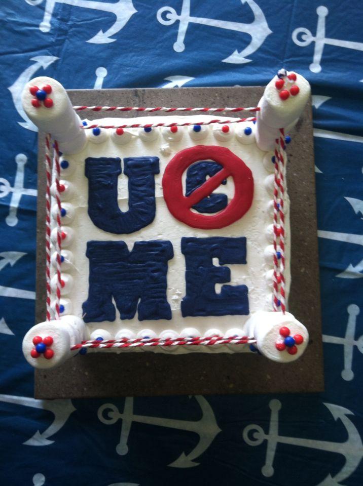 John Cena Birthday cake Pretty sweet Pinterest Birthday cakes