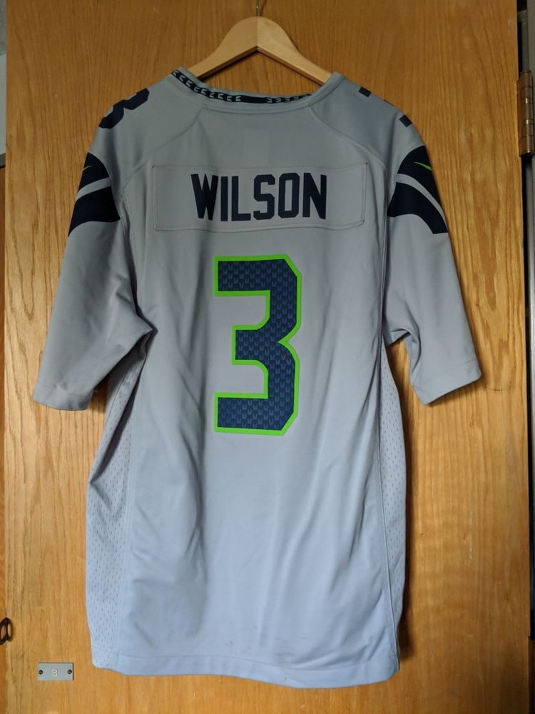 detailed look ae40a e887d Russell Wilson Seattle Seahawks Nike NFL Limited Gray Jersey ...