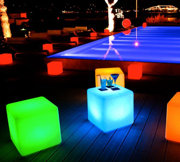 Smart & Green Cordless LED Cube Lamp | Outdoor lamp, Cube