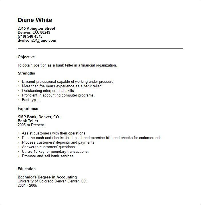 Bank Teller Cover Letter Examples No Experience Job And Resume Template Bank Teller Resume Job Resume Examples Resume Objective