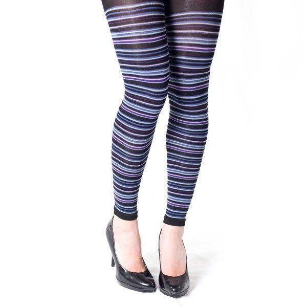 Seje Leggings med blå striber Festival Modetøj til Damer i behagelige materialer