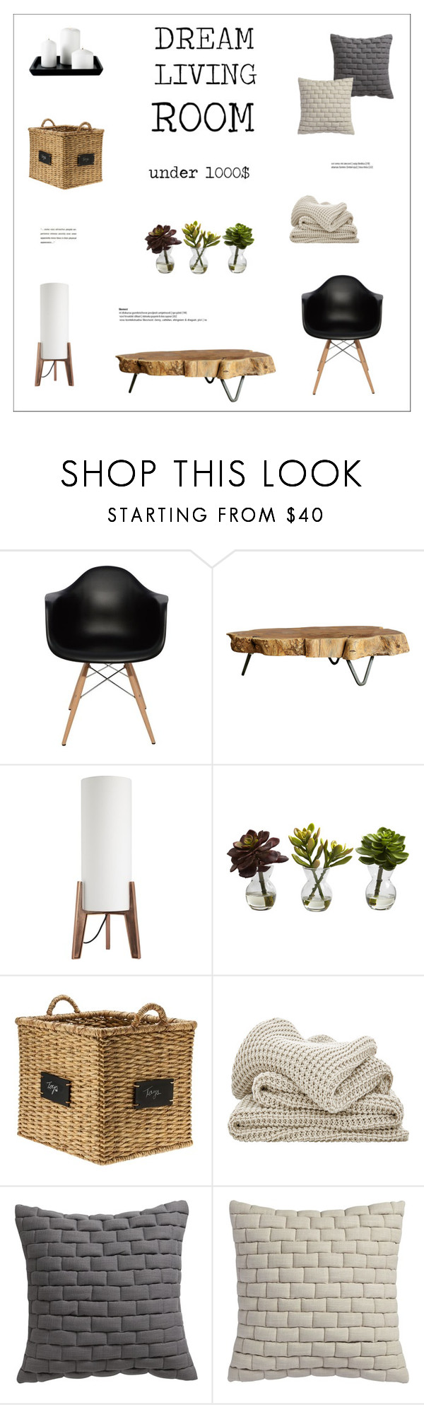 """Untitled #399"" by zitanagy ❤ liked on Polyvore featuring interior, interiors, interior design, home, home decor, interior decorating, Nuevo, Dot & Bo, CB2 and Nearly Natural"