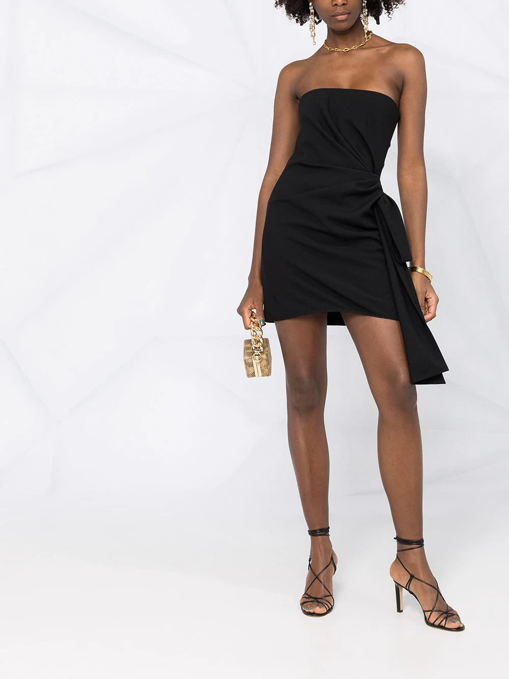 Saint Laurent Side Tie Strapless Dress Farfetch In 2021 Strapless Dress Dresses Strapless [ 1334 x 1000 Pixel ]