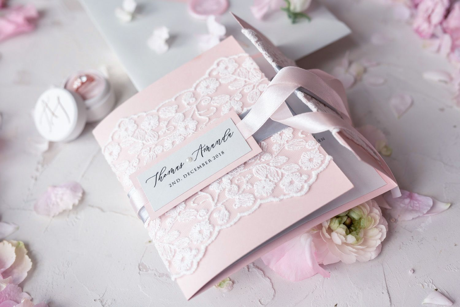 Wedding decorations for reception december 2018 The most romantic Pink u Grey stationery ideas for your Vintage