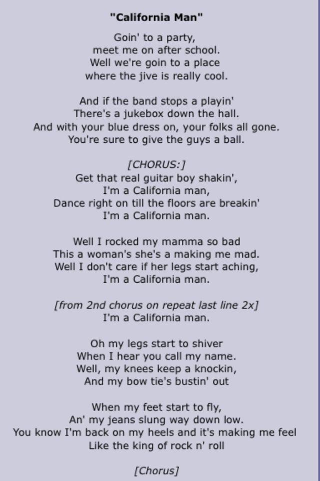 Cheap trick song lyrics