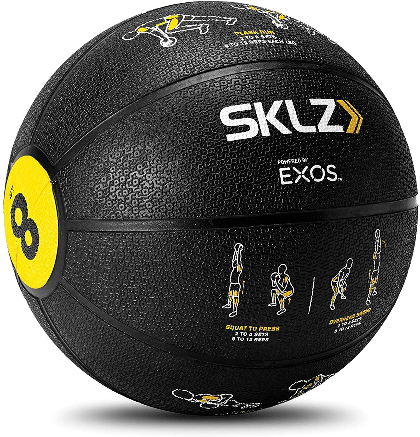 Sklz Trainer 8 Pound Medicine Ball With Self Guided Exercise Illustrations In 2020 Medicine Ball Medicine Balls Ball Exercises