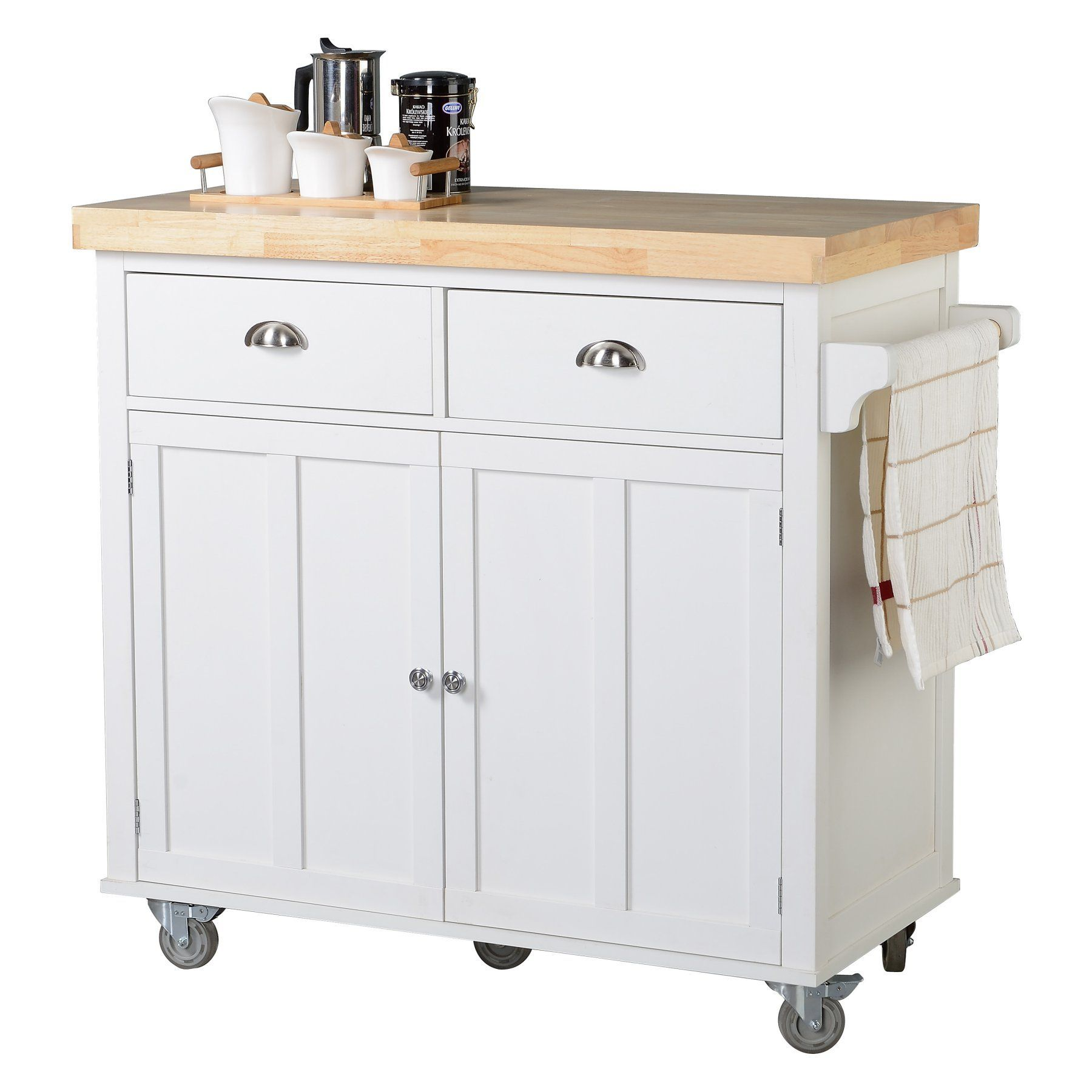HomeStar 2 Door Portable Kitchen Cart - Z13070001 | Products | Pinterest