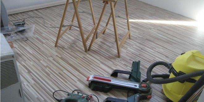 Polaganje laminata v hiši (Bosch, Makita orodje)