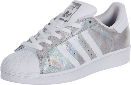 Adidas Superstar W Schuhe weiß silber auf