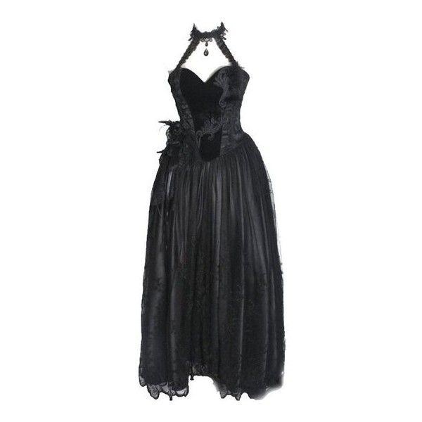 Punk Rave Gothic Baroness Dress (175 AUD) ❤ liked on Polyvore featuring dresses, punk dress, punk rock dresses, goth dress, gothic clothing dresses and gothic lolita dress