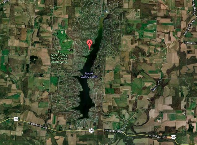 Aerial Photo Of The Apple Valley Lake In Knox County Ohio Apple