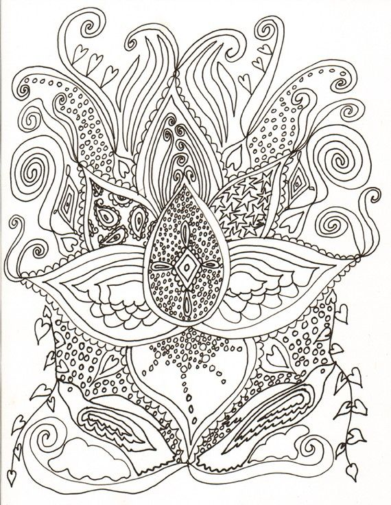 PSYCHEDELIC COLORING BOOK by tracydove on Etsy, $12.00 | Crafts ...