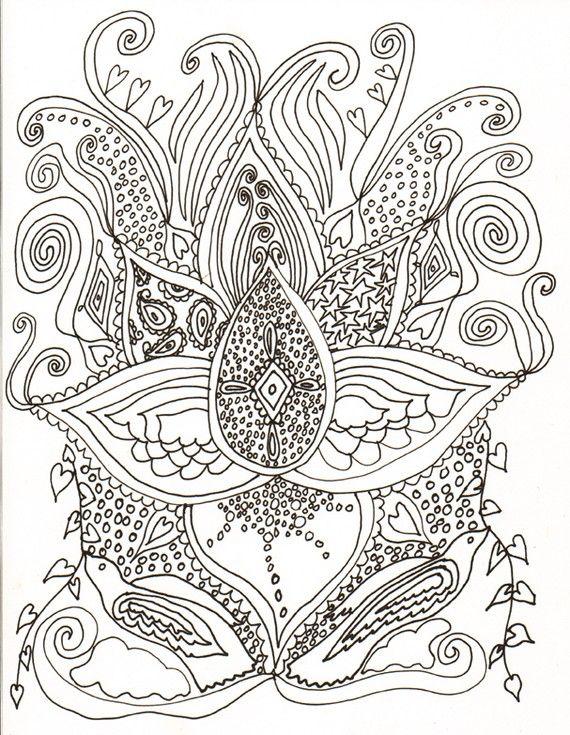 psychedelic coloring book by tracydovestudio on etsy - Psychedelic Coloring Book
