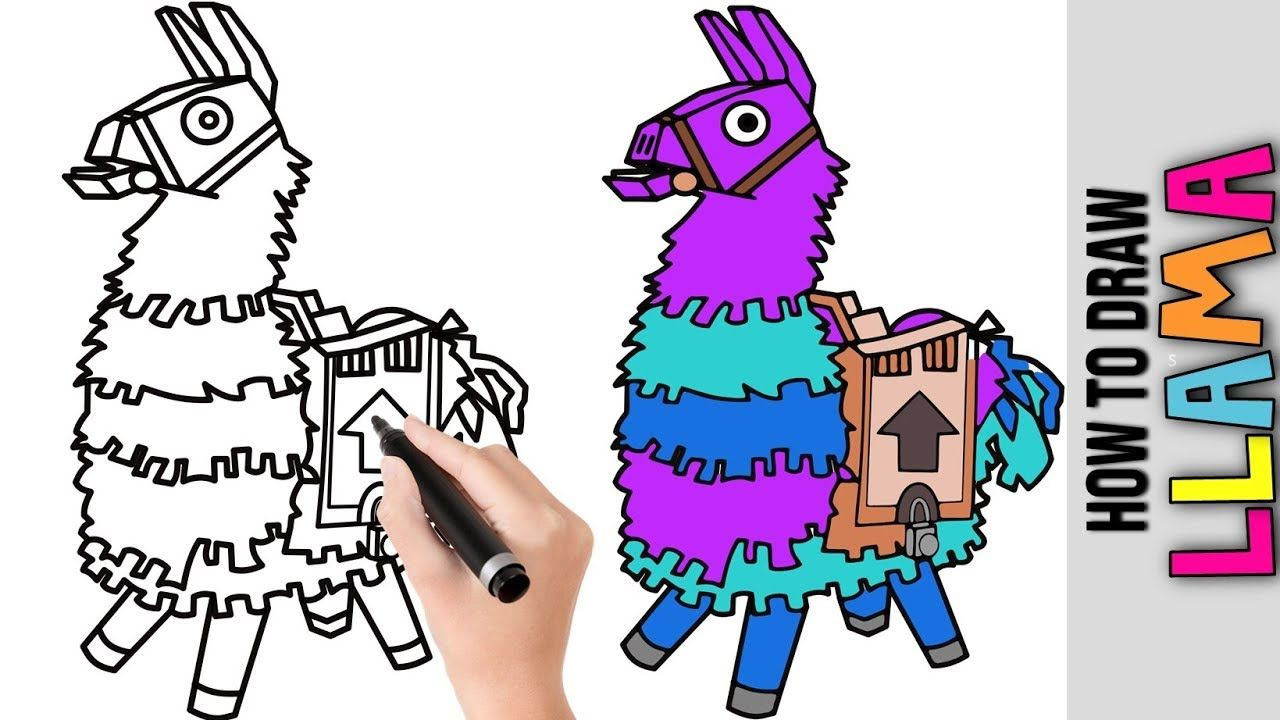How To Draw Llama Fortnite Cute Easy Drawing Tutorials For Beginners Drawing Tutorial Easy Easy Drawings Drawing Tutorials For Beginners