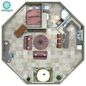 desain sketsa denah rumah minimalist 1 kamar tidur terbaru