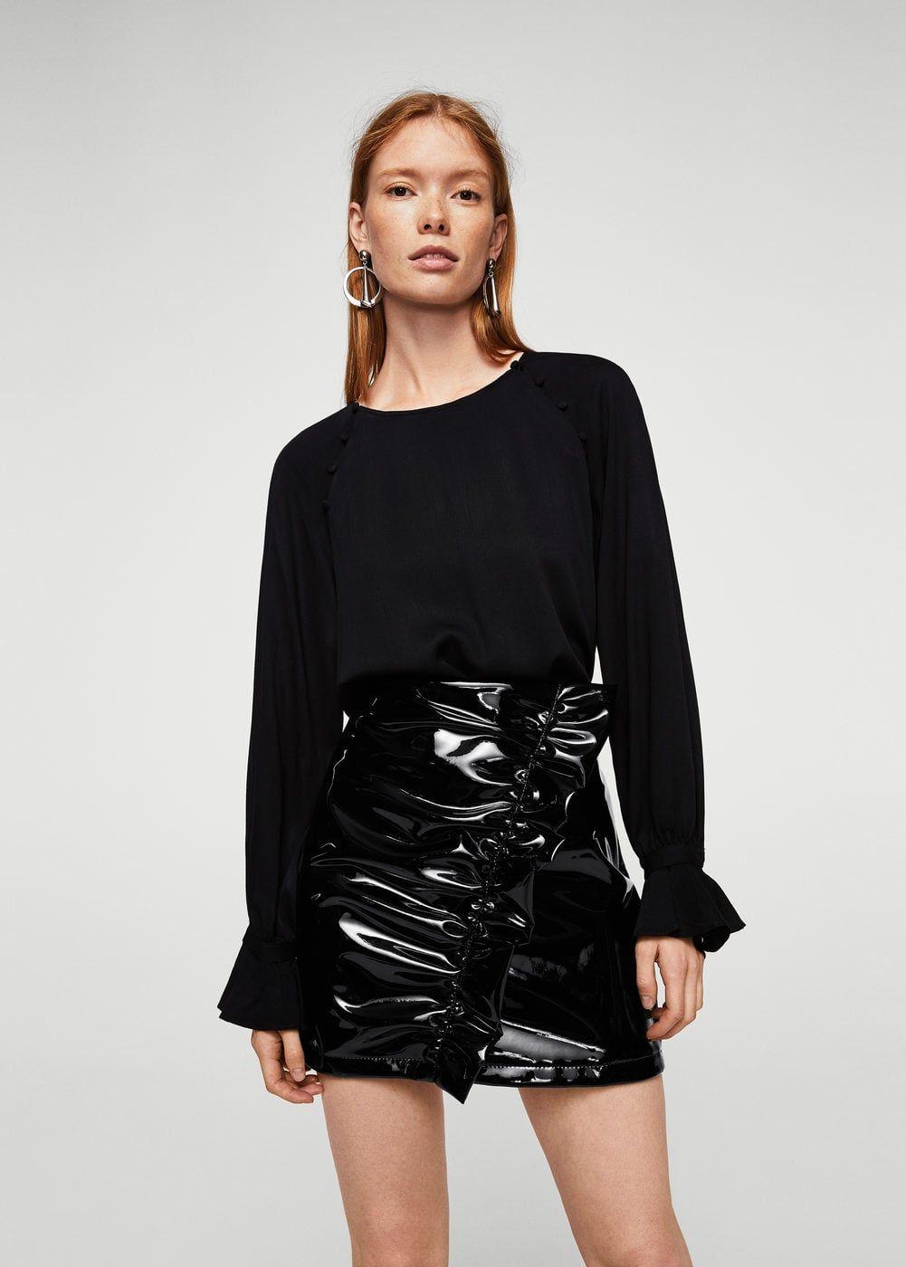 Draped vinyl skirt - Women  1842b2f285a