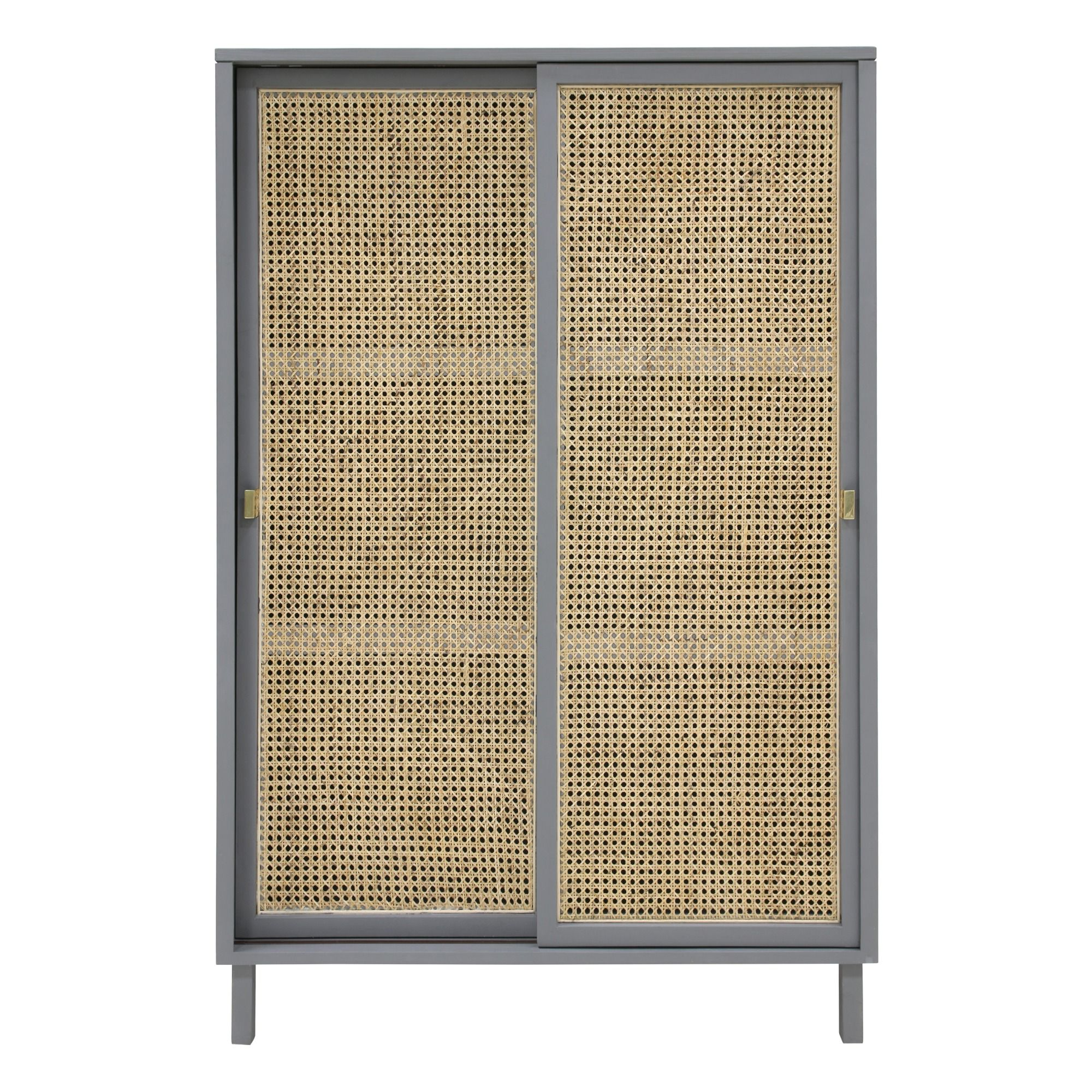 Armoire With Cane Webbing Doors Wooden Cabinets Furniture