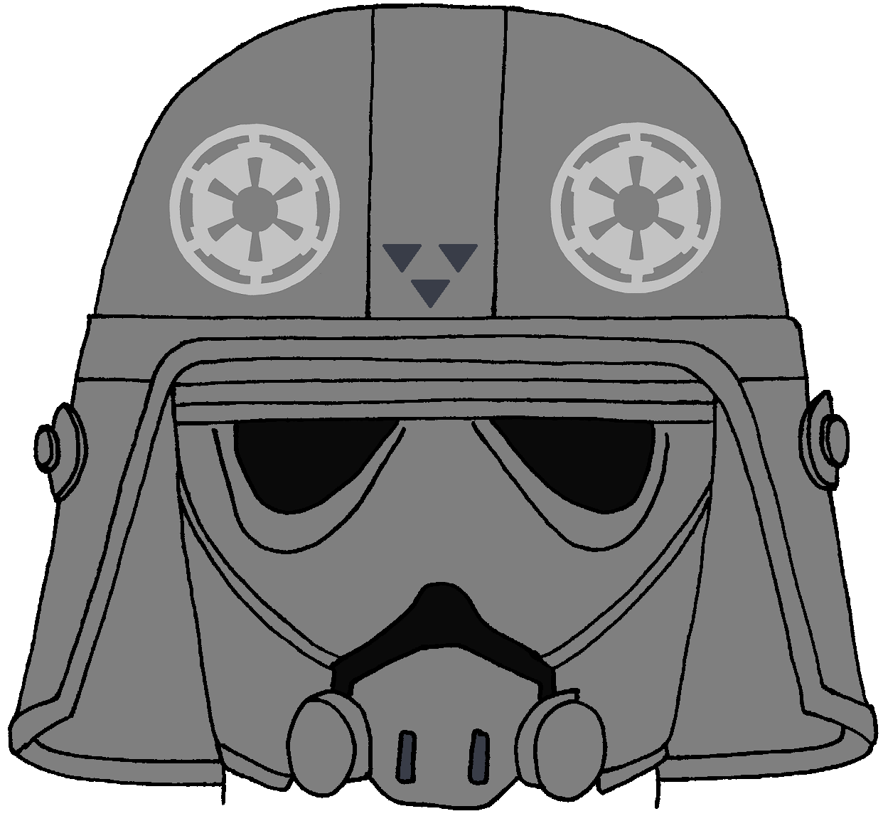 Imperial Troop Transport Pilot's Helmet Star wars art