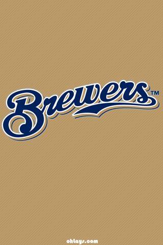Script Logo Brewers IPhone Wallpaper