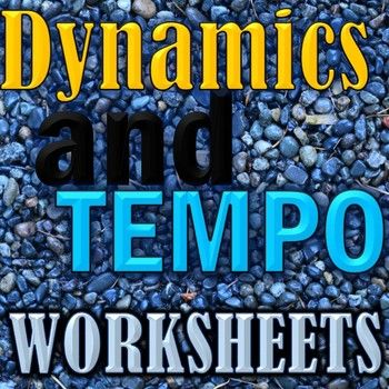 Dynamics and Tempo Worksheets - Elementary Music - Matching ...