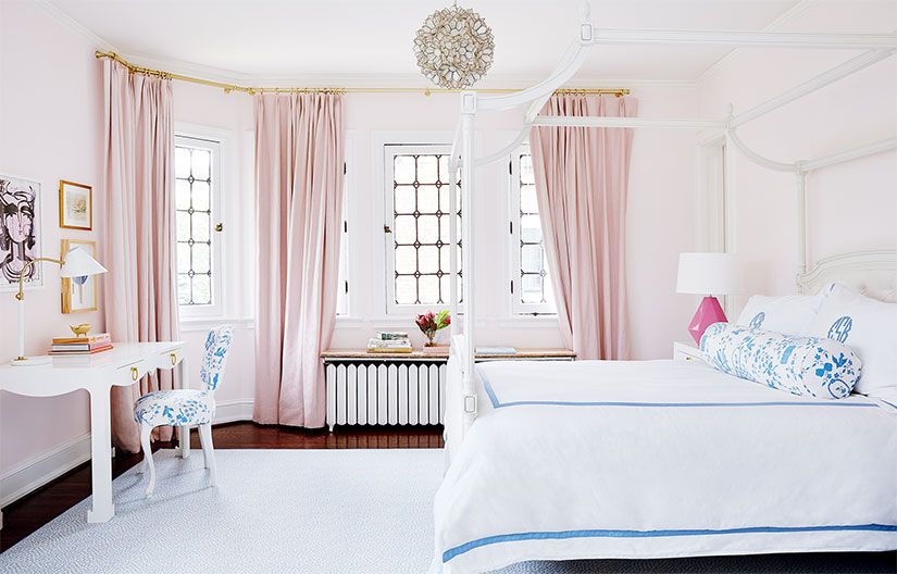 A Popping Palette Offers A Fresh Look To A Traditional Home Best Curtains For Teenage Girl Bedroom 2018