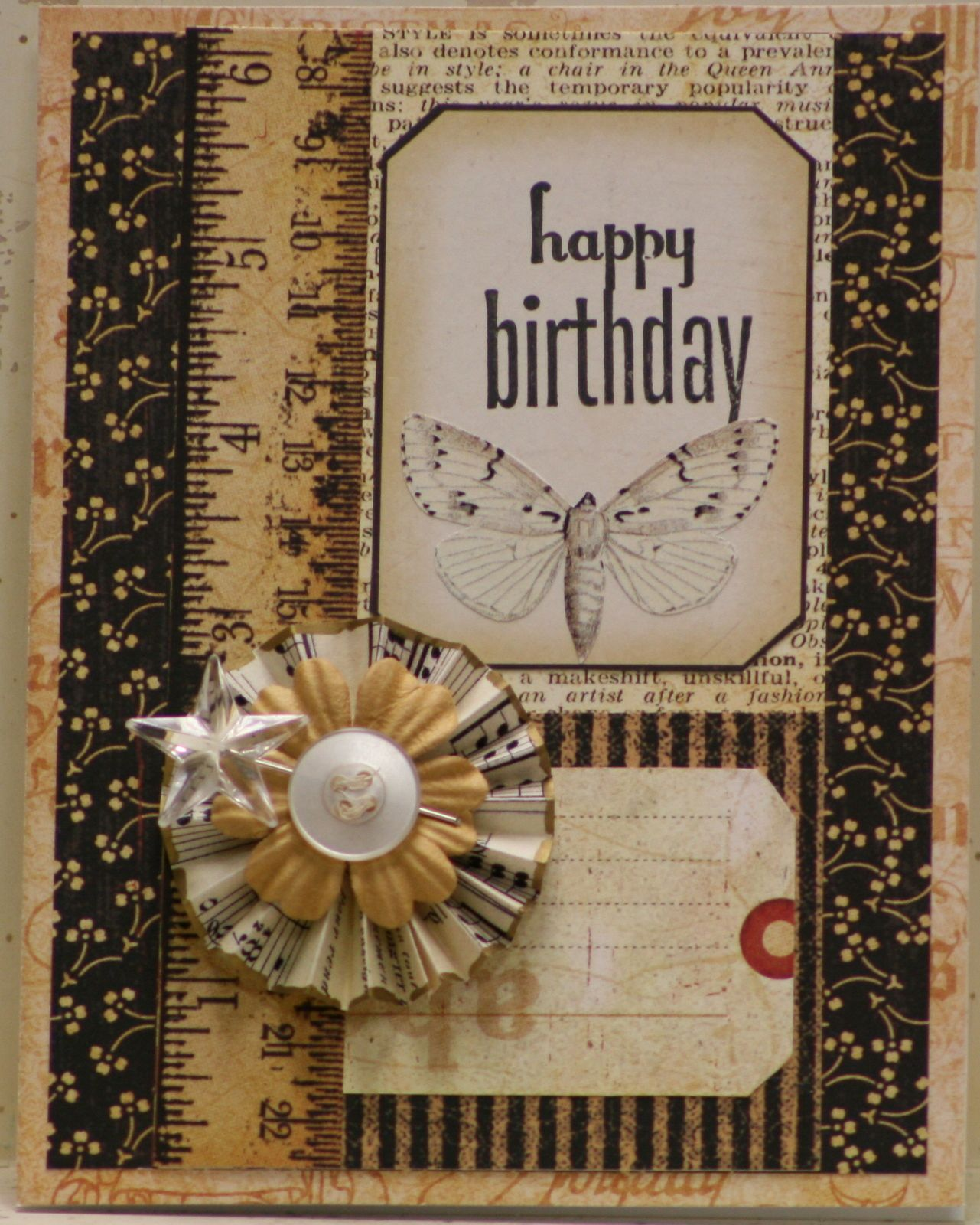 Happy Birthday Card Graphic 45 Cards And Butterfly Birthday Cards