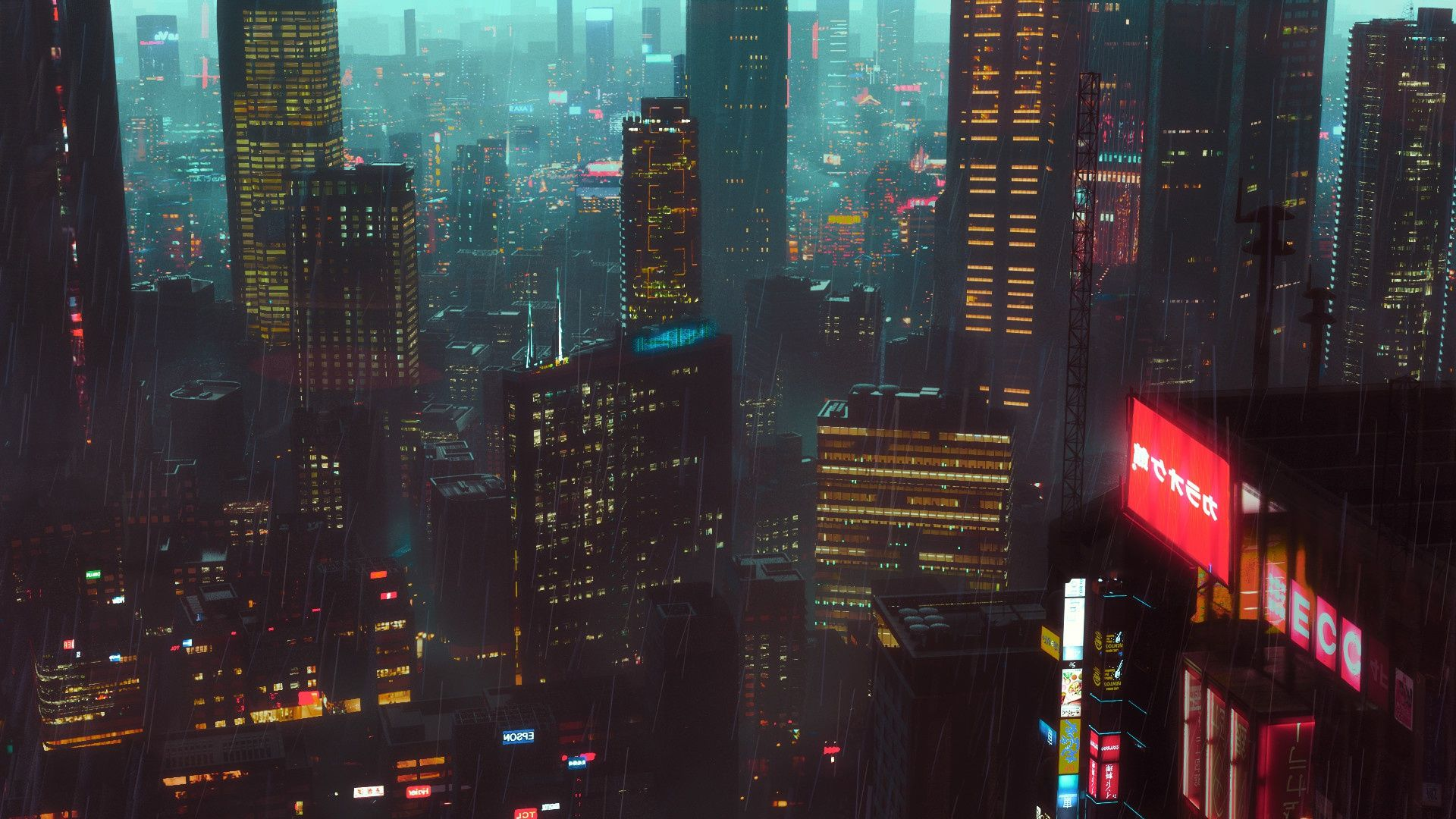Cyberpunk City 1920x1080 Cyberpunk City City Wallpaper Stock Wallpaper