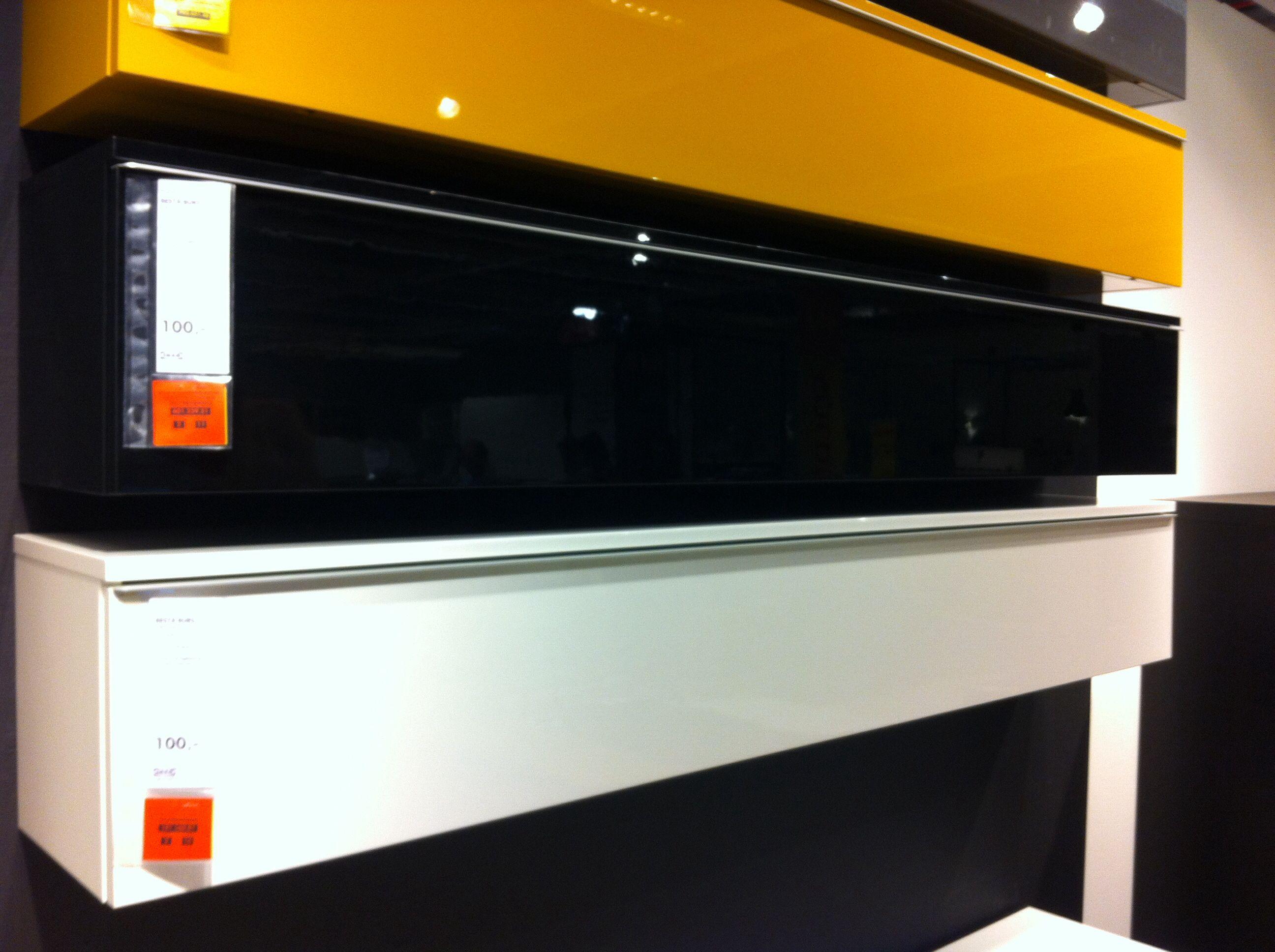 Besta Burs Wandkast.Plank Wandkast Besta Burs 180x26 Hoogglanzend Wit Geel Zwart
